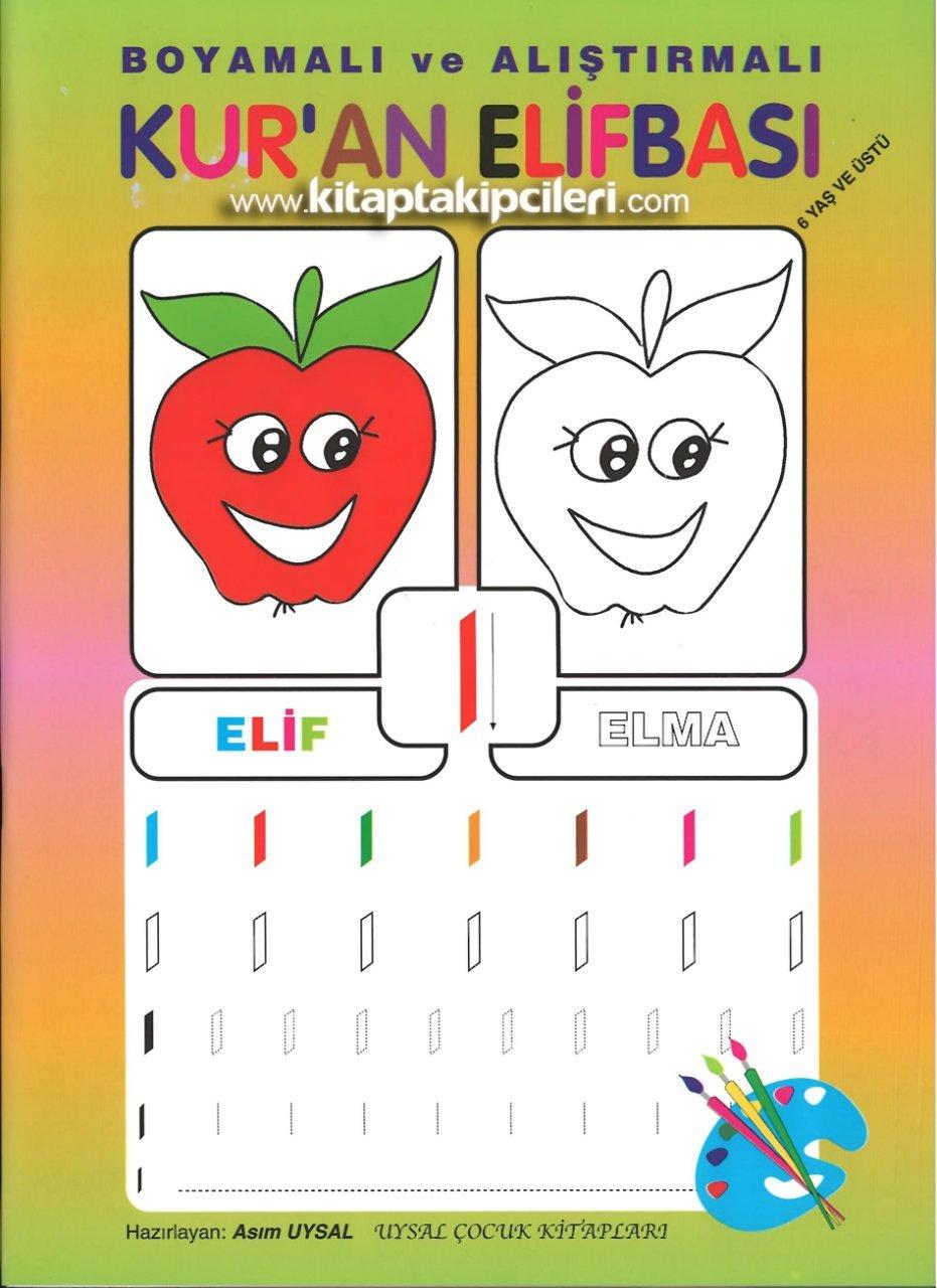Elmalı Boyamalı Ve Alıştırmalı Kuran Elifbası Asım Uysal Renkli 6