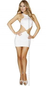 Sırtı Açık Fantazi Mini Gece Elbisesi ABM2089