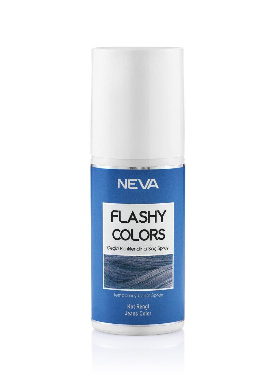 Flashy Colors Geçici Renk Saç Spreyi - Kot Rengi 75 ml