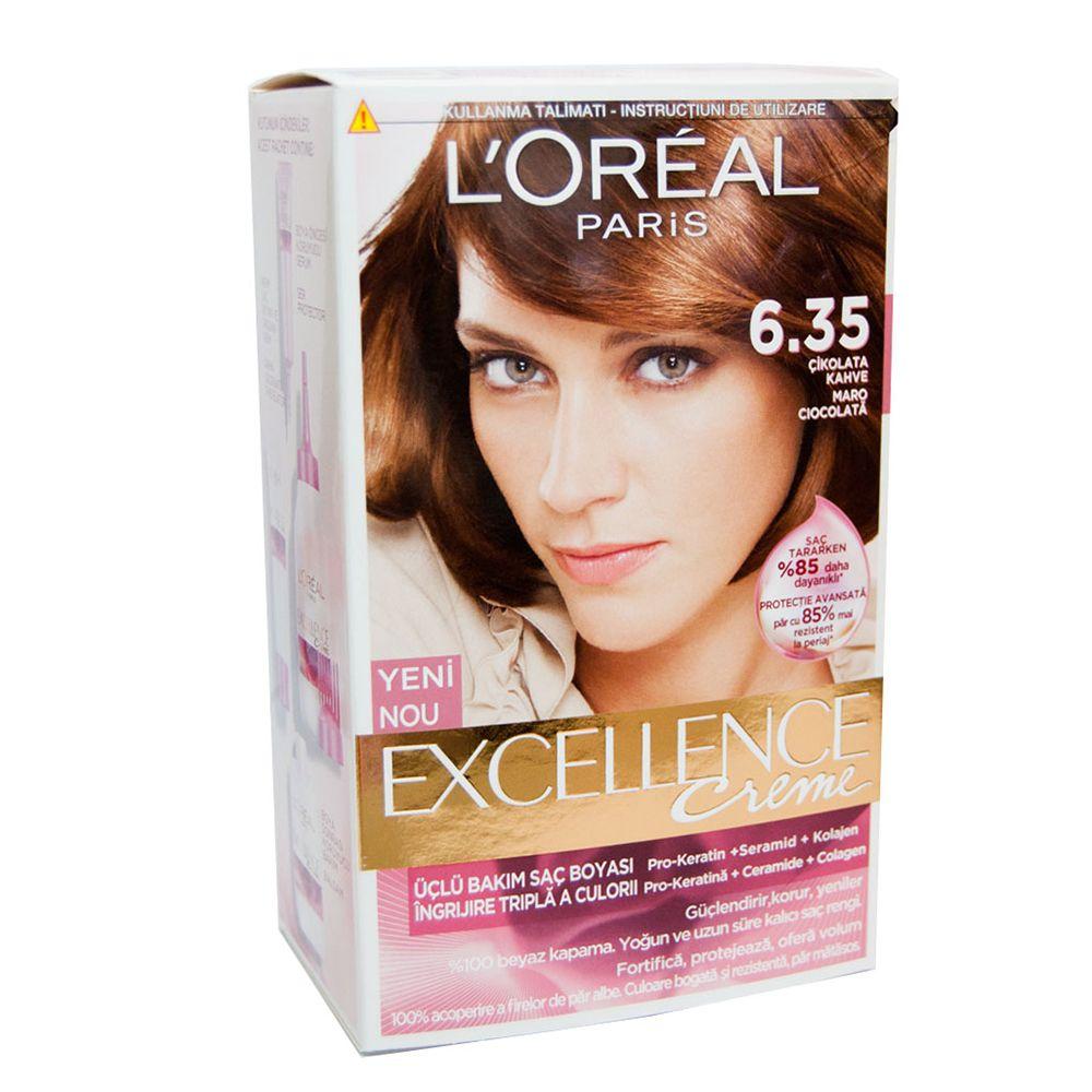 Loreal Exellence Creme 635 çikolata Kahve Saç Boyası