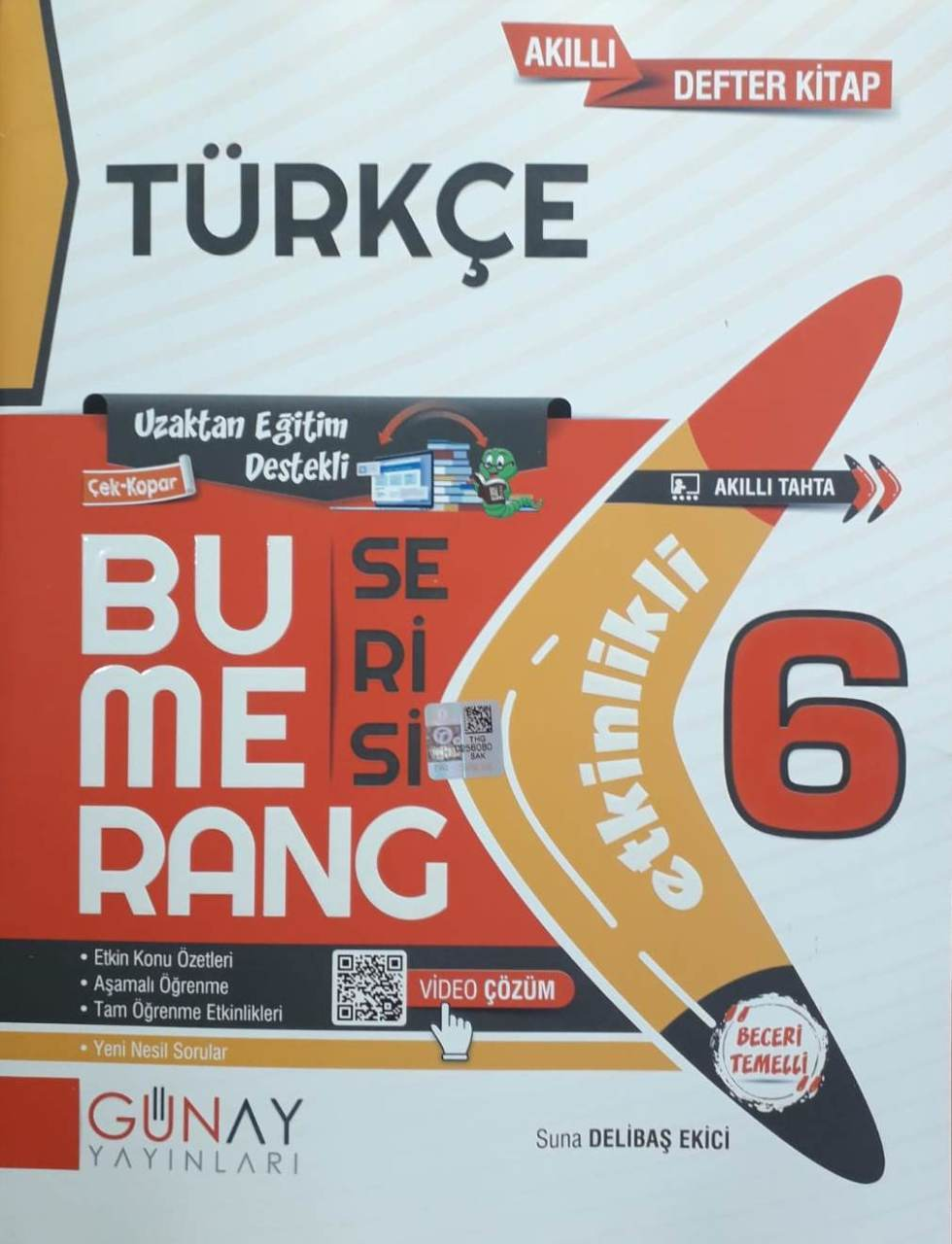 Günay Yayınları 6. Sınıf Türkçe Etkinlikli Bumerang Serisi