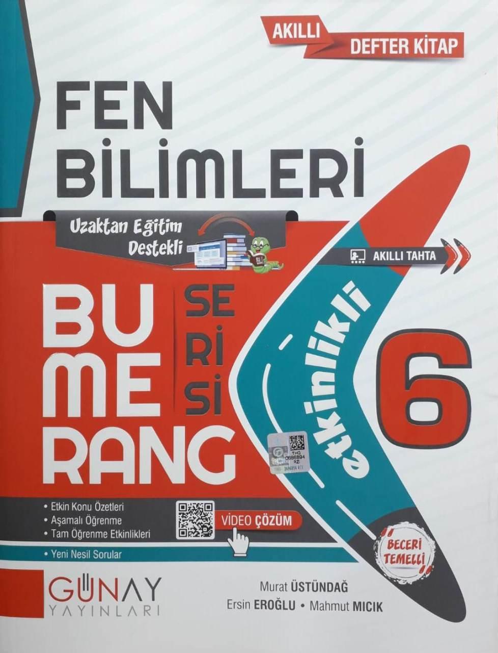 Günay Yayınları 6. Sınıf Fen Bilimleri Etkinlikli Bumerang Serisi