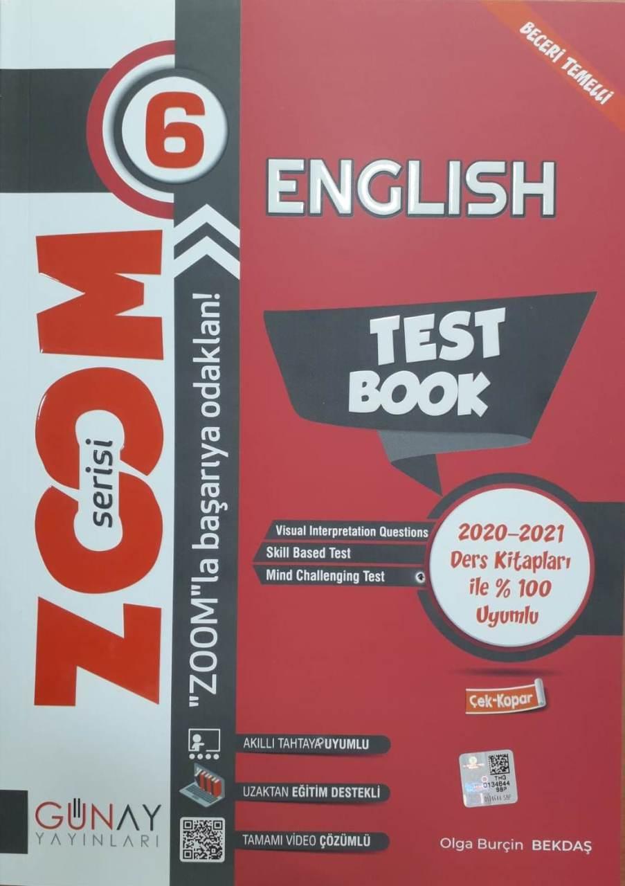 Günay Yayınları 6. Sınıf İngilizce Zoom Soru Bankası