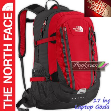 48f5501aedaff BIG SHOT 2 MODELİ THE NORTH FACE 17 İnç LAPTOP BÖLMELİ SIRT ÇANTASI KIRMIZI  RENK T0CE7965J ...