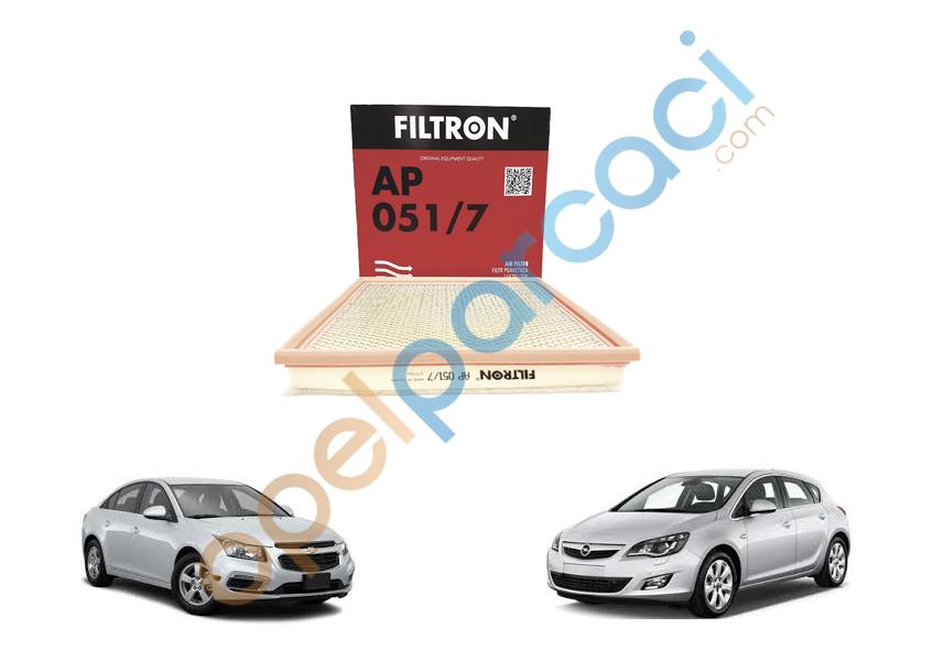 Opel Astra J - Chevrolet Cruze Hava Filtresi Turbo Motorlar FILTRON