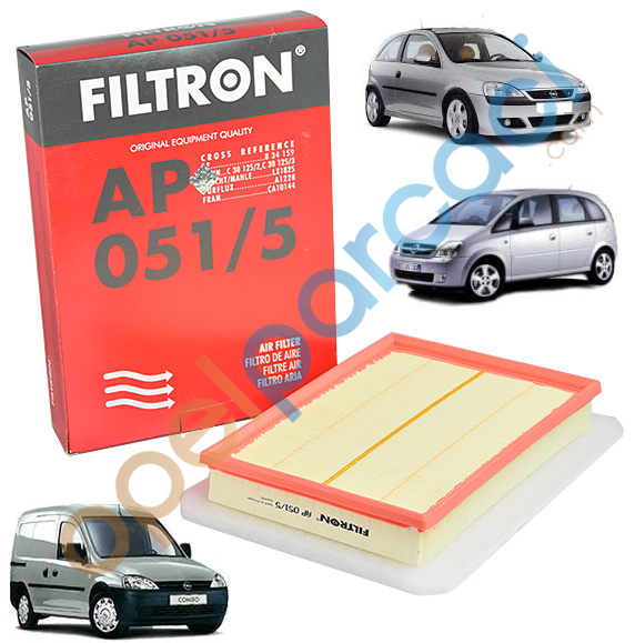 Opel Corsa C - Combo C - Meriva A Süngerli Hava Filtresi DIZEL FILTRON