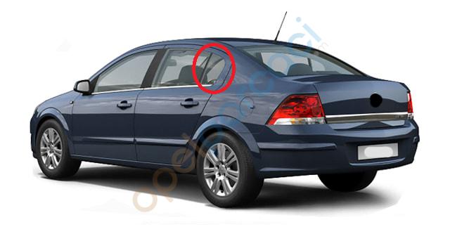 Opel Astra H Sedan Kelebek Camı SOL