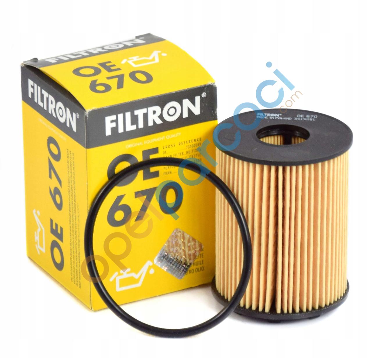 Opel Corsa D 1.3 Dizel Yağ Filtresi FİLTRON (Tırnaklı Tip)