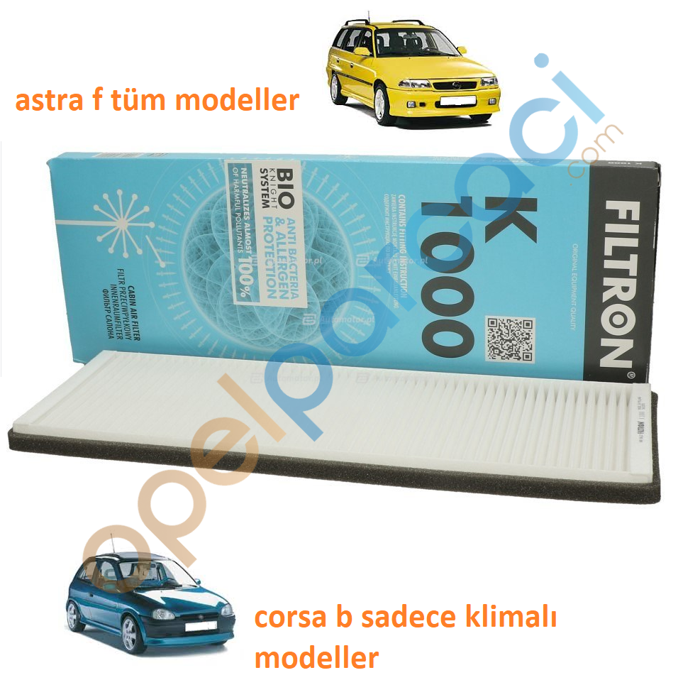 Opel Corsa B Klimalı - Astra F Tüm modeller Polen Filtresi FILTRON