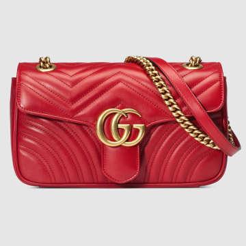 885e056aad9a GG Marmont matelassé shoulder bag - Çanta, Kırmızı