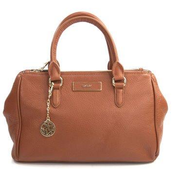 77ee88167a Caramel Pebbled Leather Double Zip Satchel Bag - Çanta
