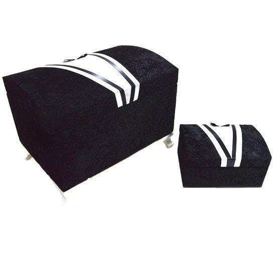 siyah damat ceyiz sandigi 2 adet