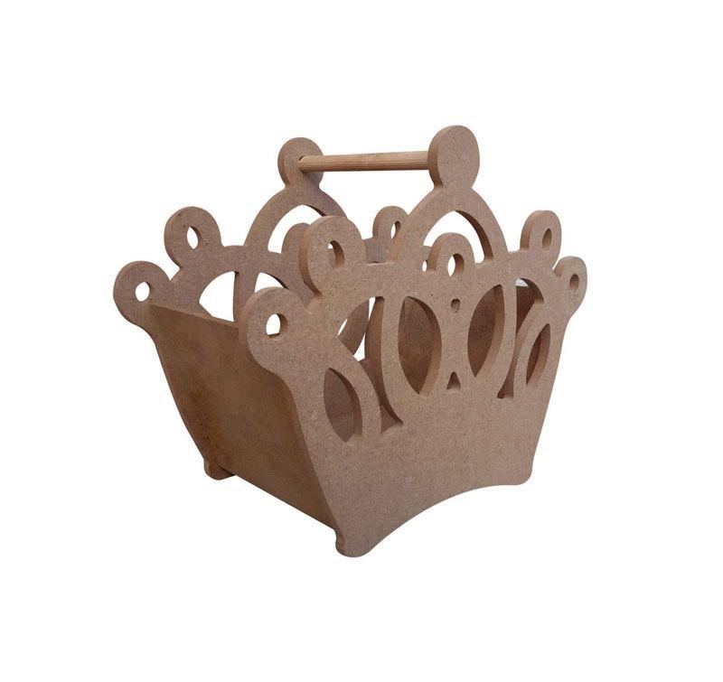 Prenses Tacı Ahşap Kutu 30x25x14 Cm