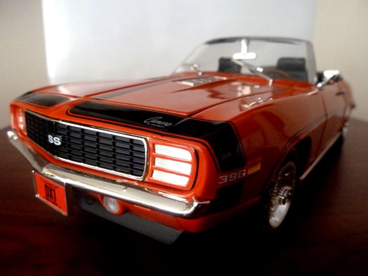 Camaro Ss 1969 >> 1969 Chevrolet Camaro Ss 396 Diecast Metal Models Araba 1 18 Ertl