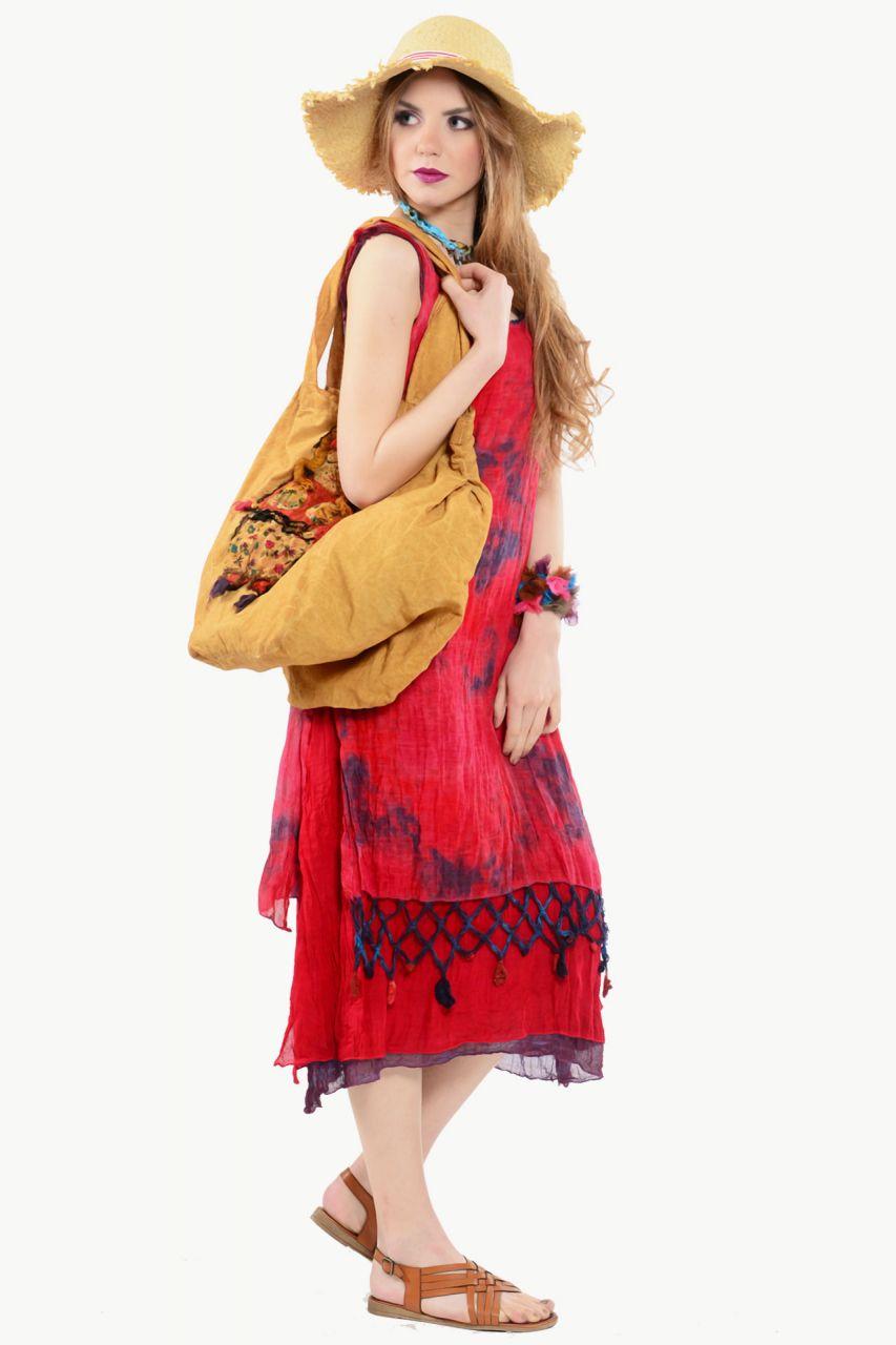Yazlık uzun kumaş elbise modelleri