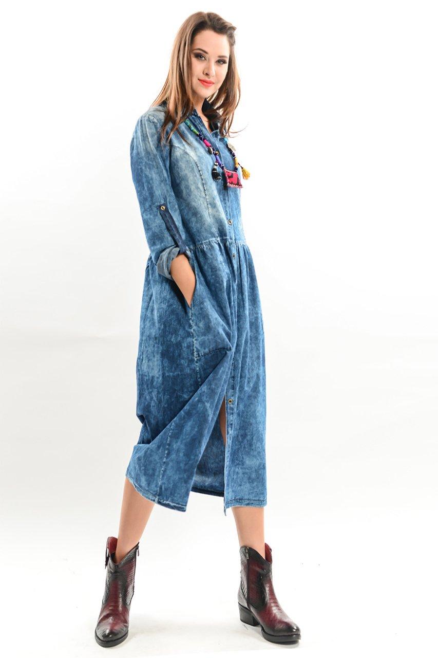 Kot Elbise Modelleri Uzun