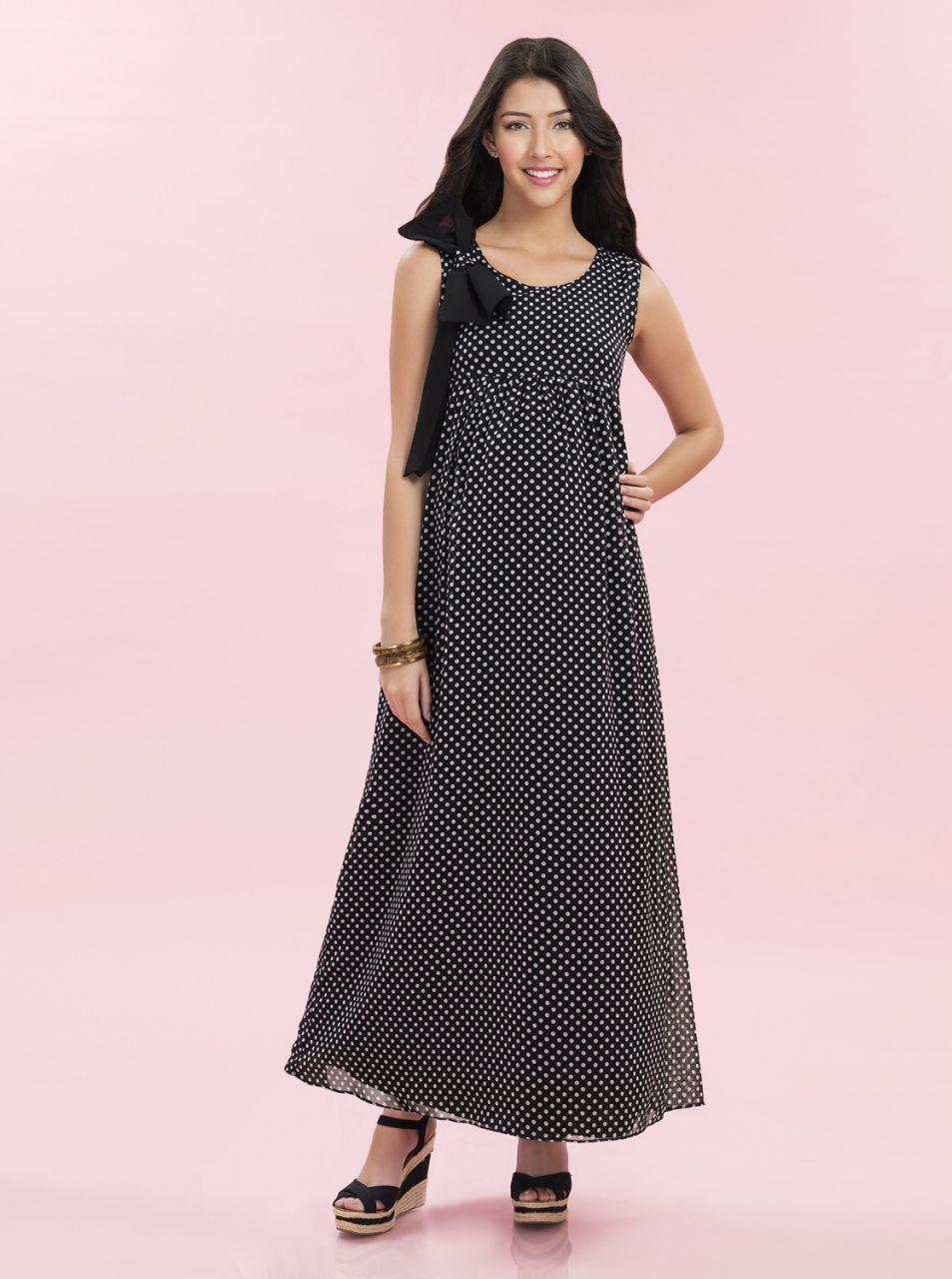 Hamile bayanlar için uzun elbiseler