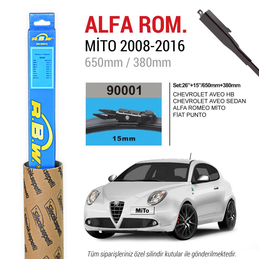 Alfa Romeo Mito >> Alfa Romeo Mito Rbw Muz Silecek 2008 2016