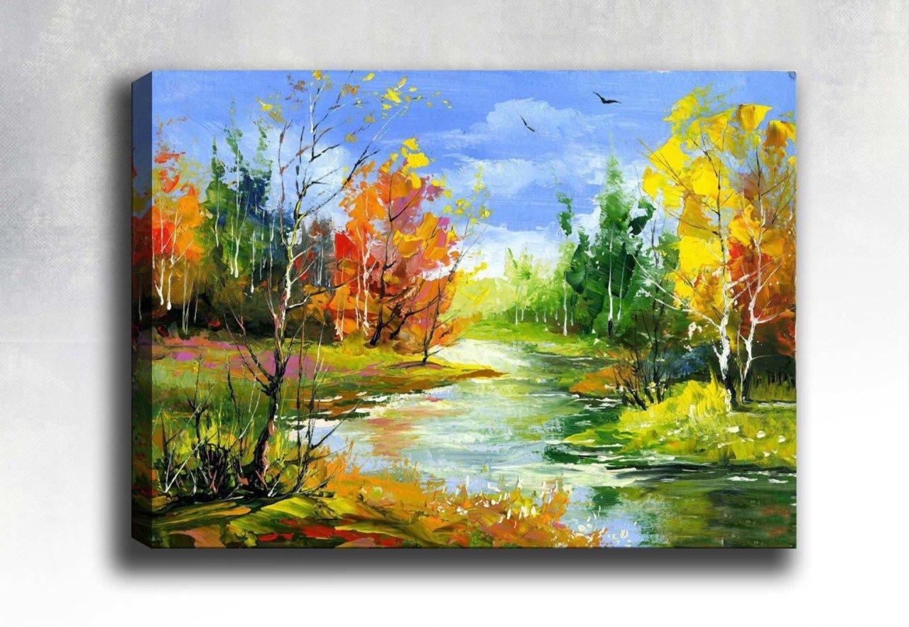 Göl Manzarası Yağlı Boya Tablo