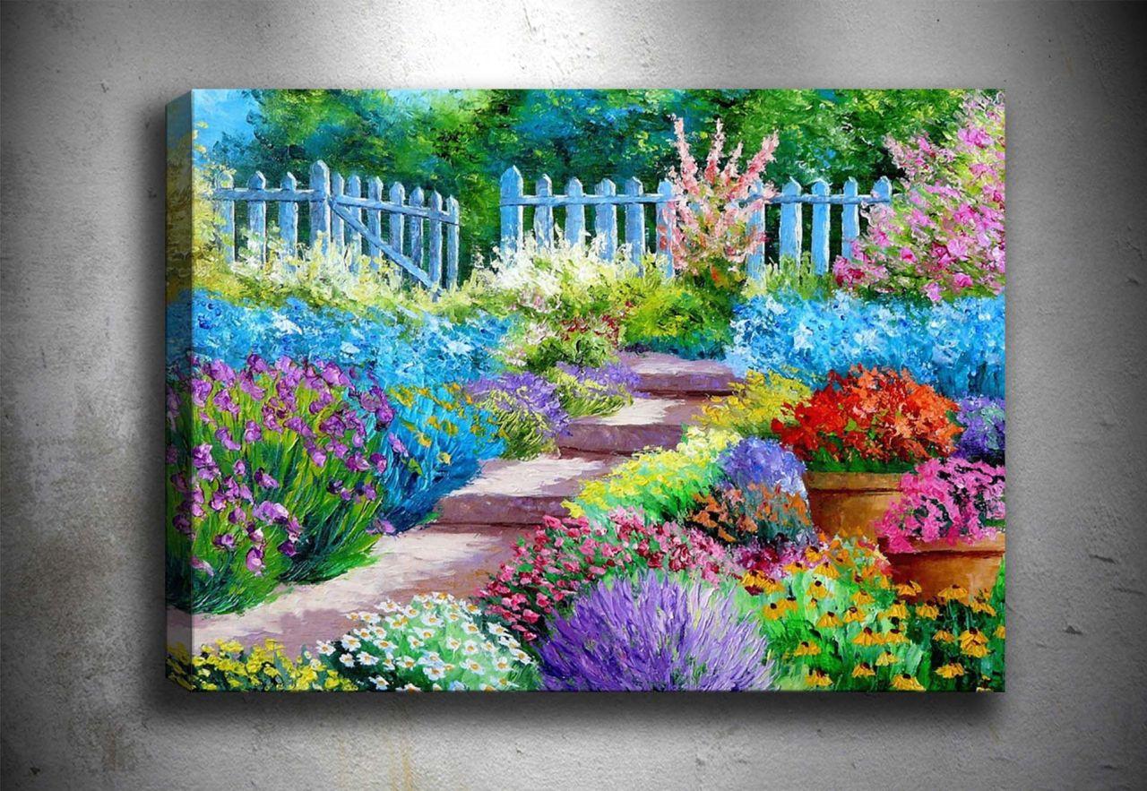 Bahar Bahçesi Yağlı Boya Tablo
