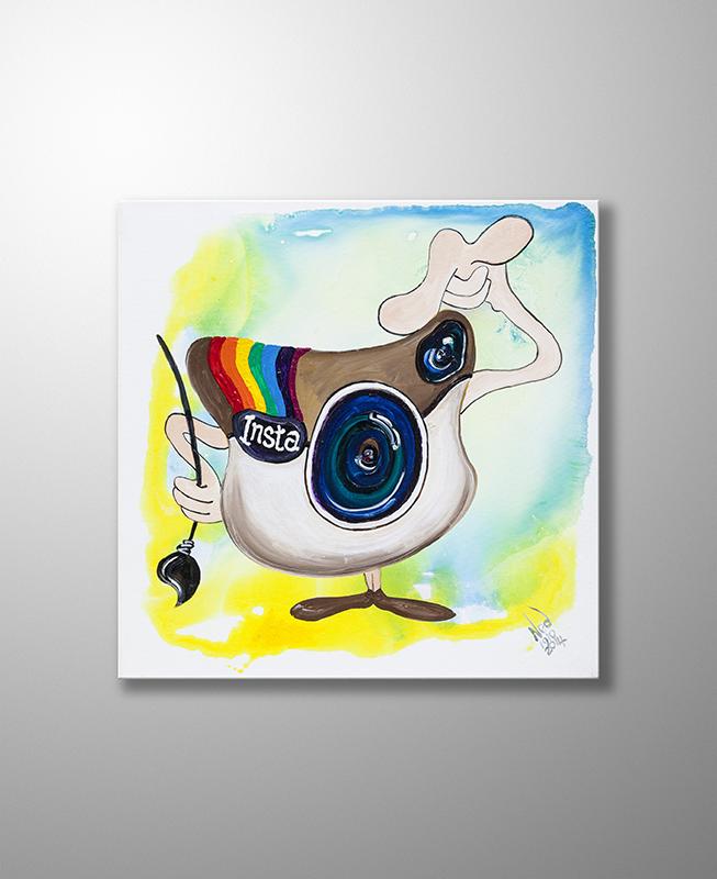 Orijinal Akrilik Tablo Instagram 40cm X 40cm Instagram