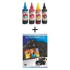 KAMPANYA A4 Fotoğraf Kağıdı Hediye! HP Serisi Yazıcılar için Vivera uyumlu 4x100 ml Mürekkep Seti - HP GT 5810 - GT5820 UYUMLU