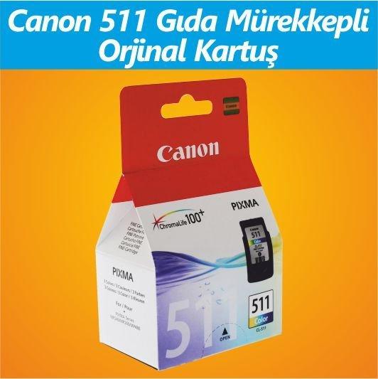 GIDA KARTUŞU - Canon CL 511 MÜREKKEPLİ RENKLİ Orjinal Kartuş