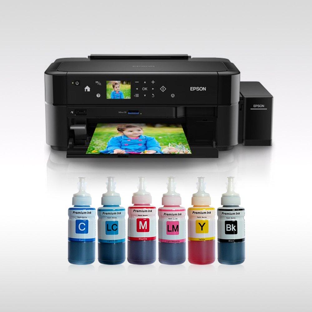 Epson L810 Photoink 6 Renk Bitmeyen Kartuşlu (1 Sayfa Renkli Baskı 0,01 TL)