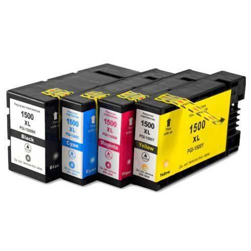 Canon PGI-1500XL / Maxify MB2050 / MB2150 / MB2155 / MB2350 / MB2750 / MB2755 4 Renk Set Muadil Kartuş