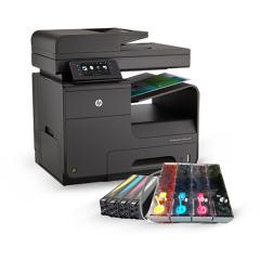 HP Pro X476DW Yazıcı ve DEV Bitmeyen Kartuş Sistemi (Renkli Baskı 0,001kr-Mini Matbaa)