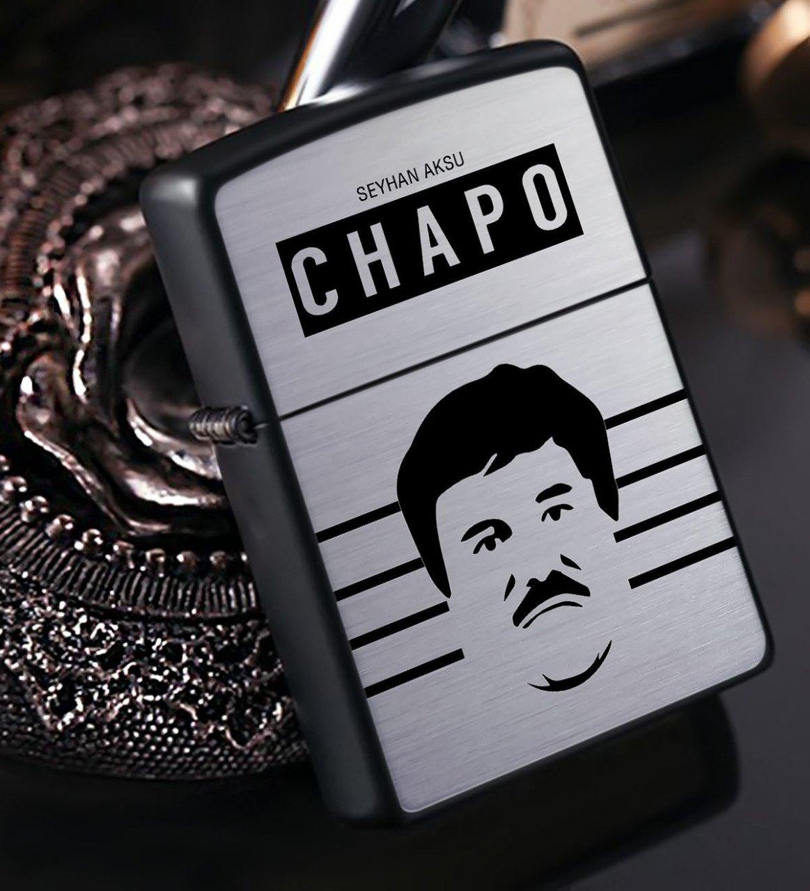 Kişiye Özel EL Chapo Benzinli Siyah Metal Çakmak - 2