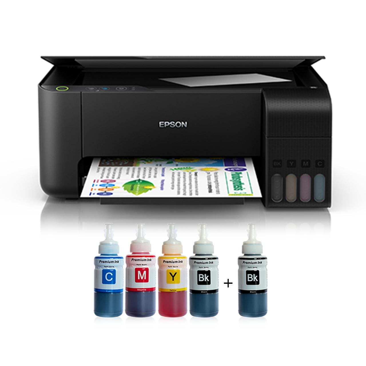 Epson Tanklı L3150 Photoink Mürekkepli Yazıcı 4 Renk Bitmeyen Kartuşlu (Siyah Mürekkep Hediyeli) Epson L3050 Yerine Çıkan Model