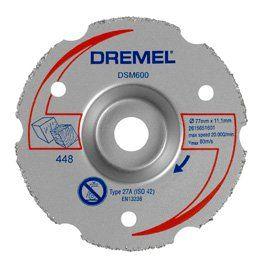 Dremel DSM20 Çok Amaçlı Flanşlı Kesim Diski 77mm / 2615S600JA