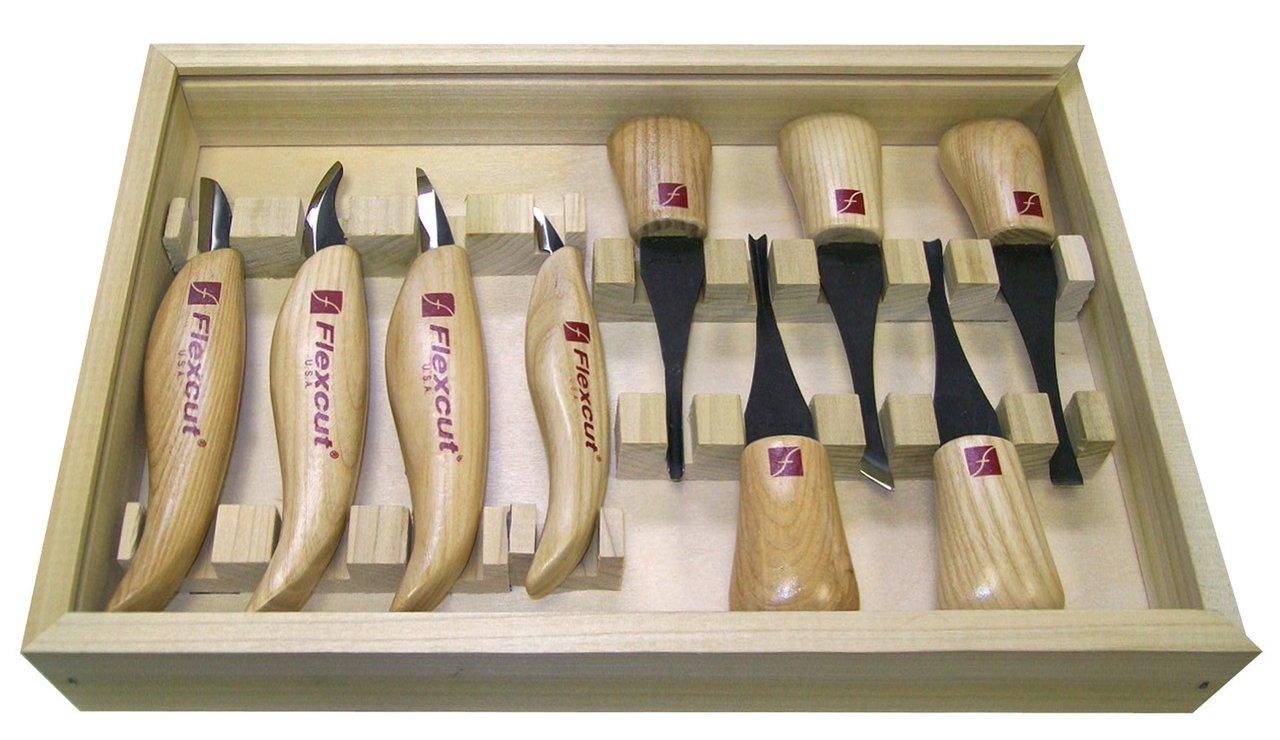 Flexcut Avuç İçi Oyma ve Bıçak Seti 9 Parça
