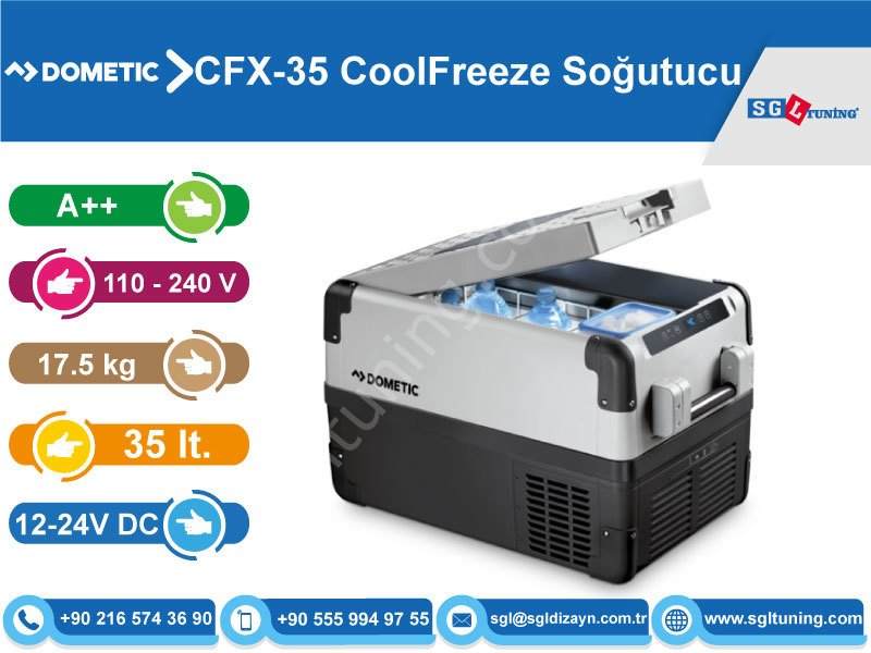 dometic waeco cfx 35 coolfreeze 35 lt kompres rl so utucu. Black Bedroom Furniture Sets. Home Design Ideas