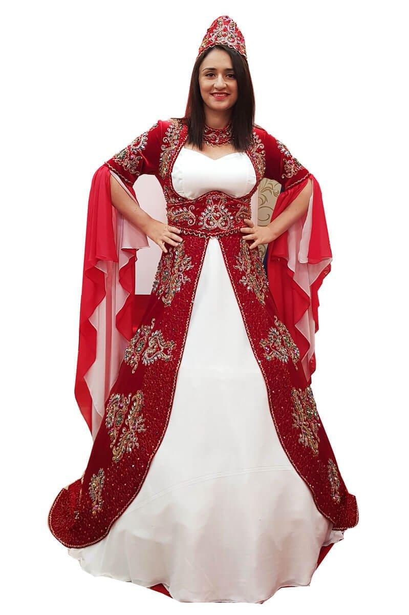 Kırmızı Bindallı (Kaftan) Kına Elbisesi Modelleri 2019-2019 58